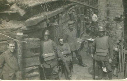 After rescue of comrades from the neighbouring trench