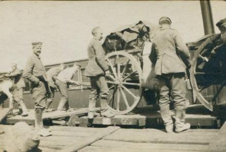 Artillery changes position