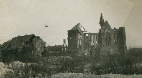 Destroyed church in Lens