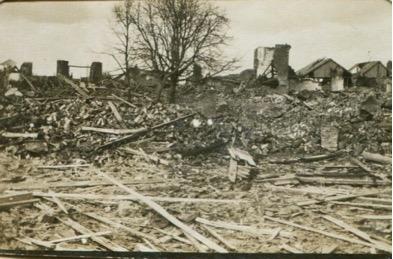Destroyed villages